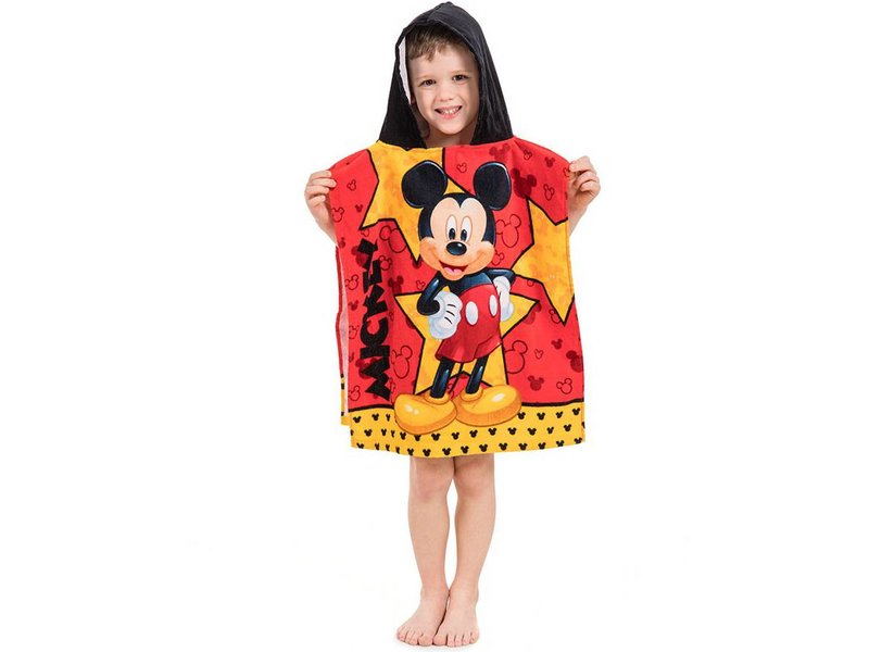 Disney Mickey Mouse Star - Poncho - 50 x 115 cm - Red