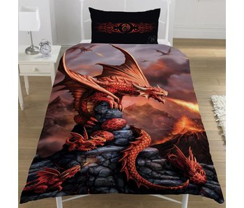 Anne Stokes Bettbezug Fire Dragon 135x200cm