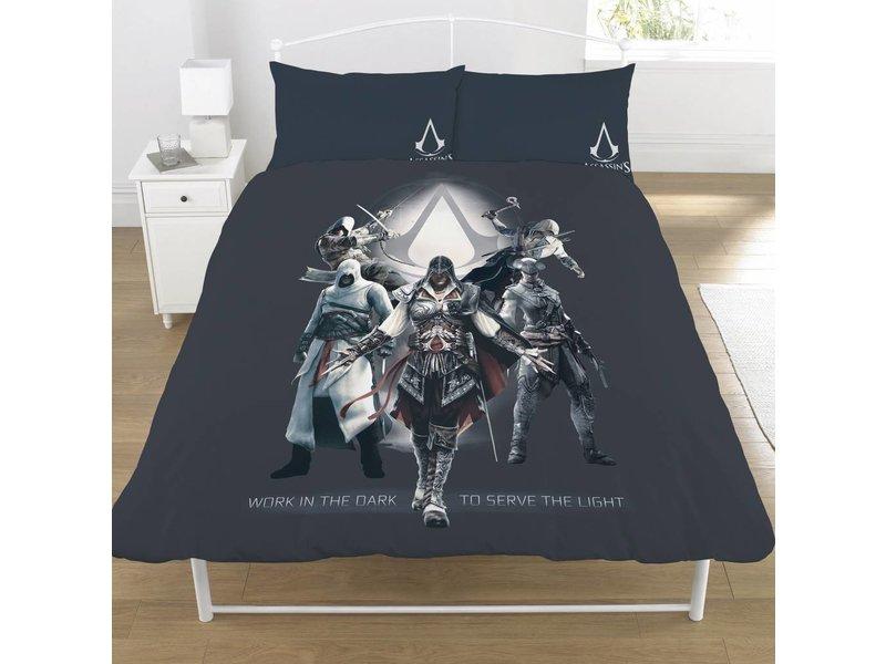 Assassin's Creed Serve the Light - Bettbezug - Doppelbett - 200 x 200 cm - Grau