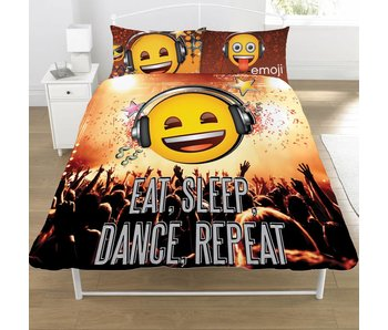 Emoji Housse de couette Eat Sleep Dance Repeat 200x200cm