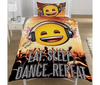 Emoji Duvet cover Eat Sleep Dance Repeat 135x200cm