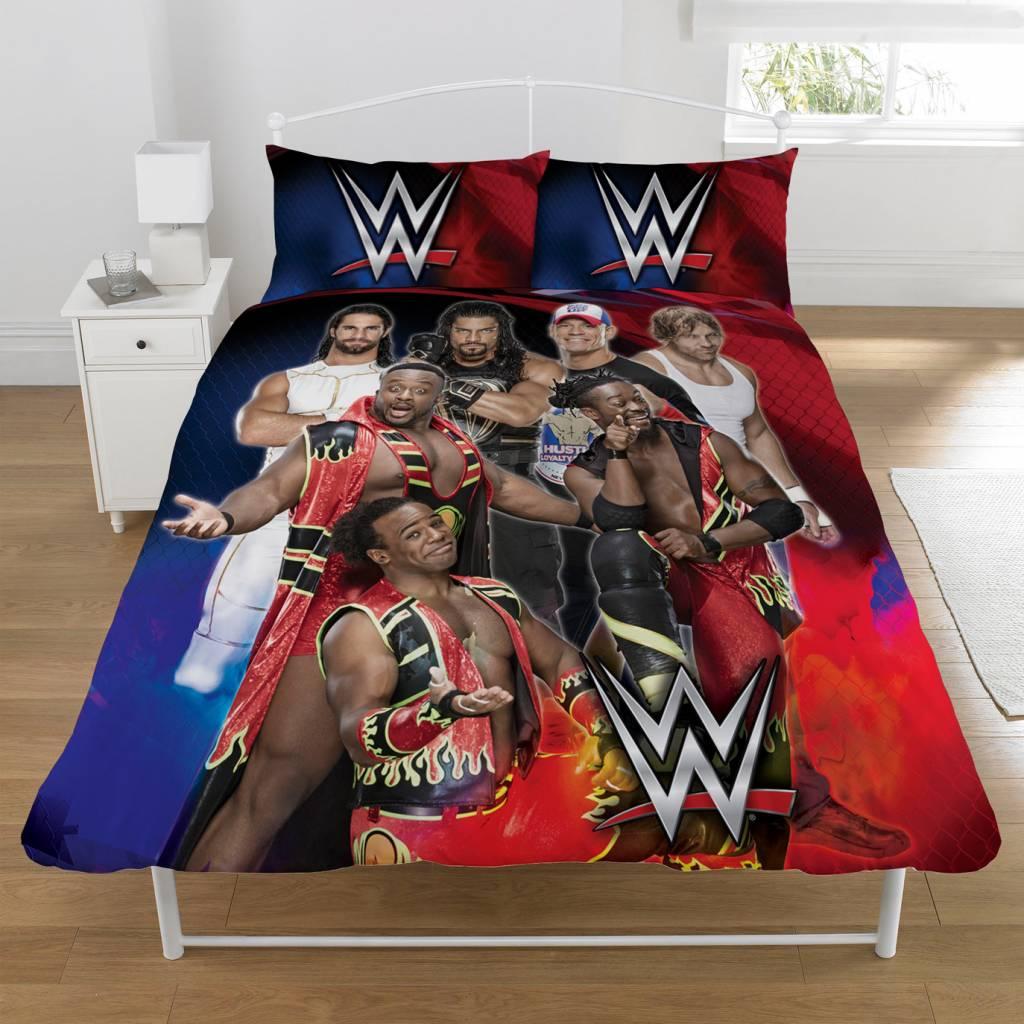 WWE Wrestling Dekbedovertrek Super 7 tweepersoons 200 x 200 cm + 2 kussenslopen 50 x 75 cm - Polycot