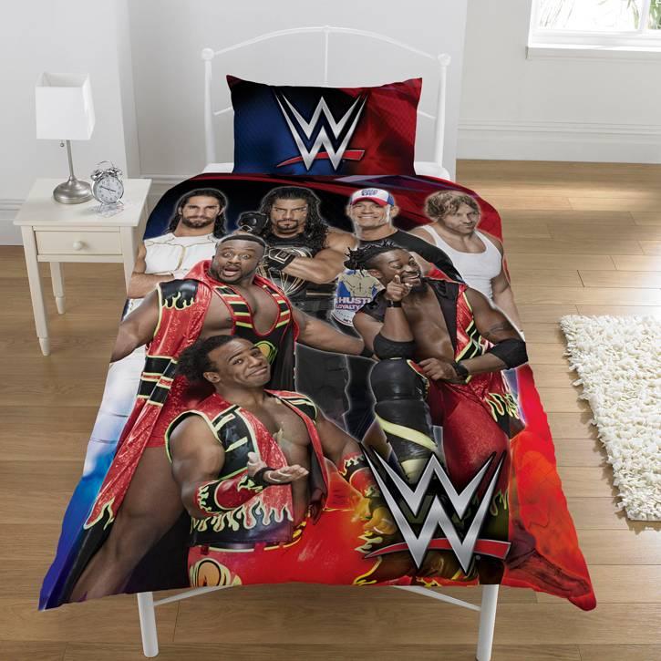WWE Dekbedovertrek Super 7 135 x 200 cm + 1 kussensloop 50 x 75 cm - Polycotton