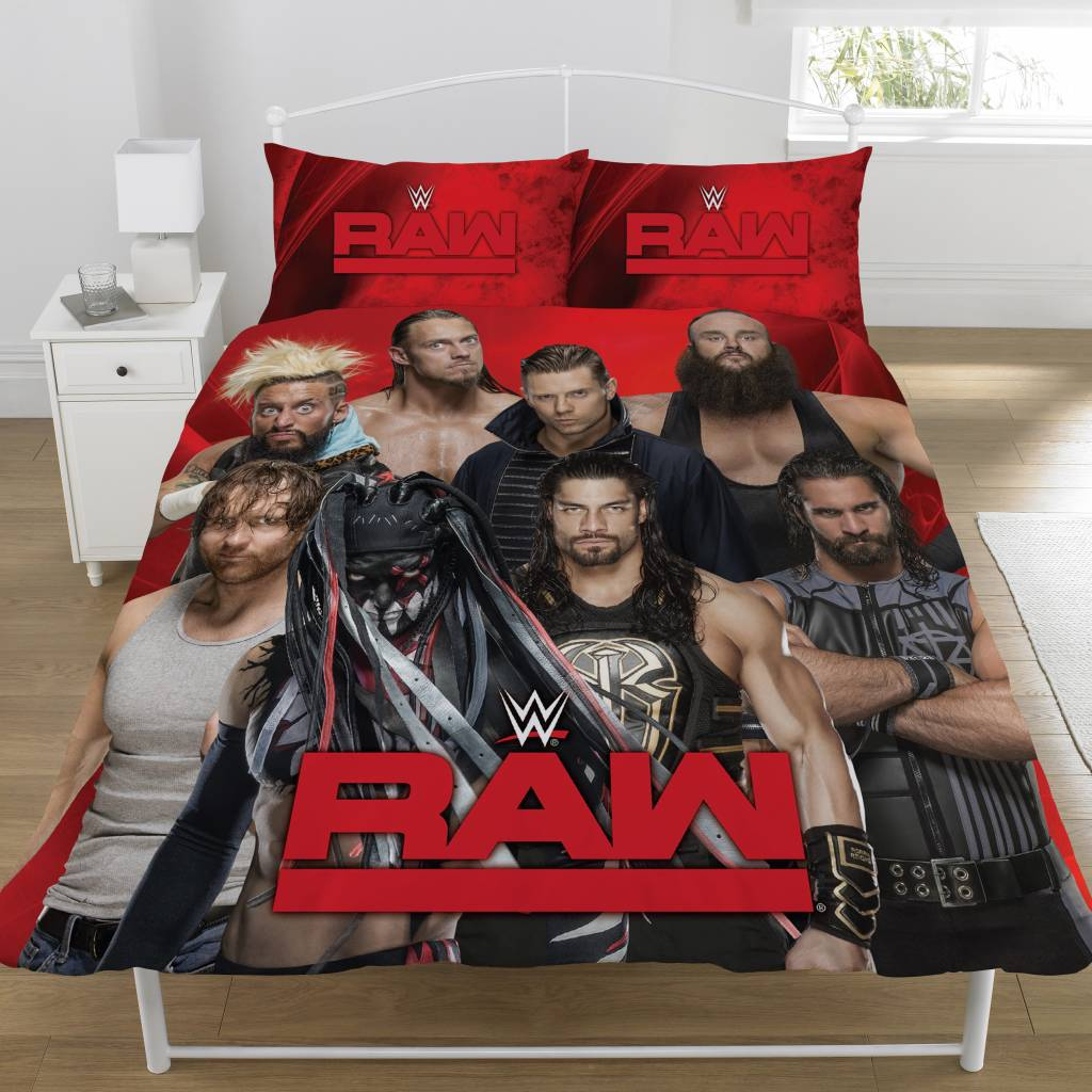 WWE Wrestling Dekbedovertrek Raw VS Smackdown tweepersoons 200 x 200 cm + 2 kussenslopen 50 x 75 cm
