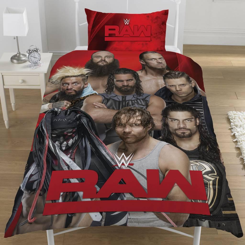 WWE Wrestling Dekbedovertrek Raw VS Smackdown eenpersoons 135 x 200 cm + 1 kussensloop 50 x 75 cm -