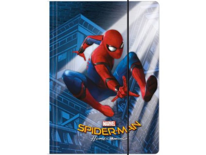 Spider-Man Homecoming - Mappe - A4 - Blau