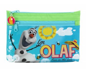 Disney Frozen Olaf pencil case two zippers