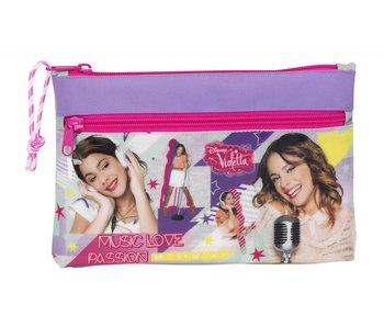 Disney Violetta Case Neon 2 fermetures à glissière