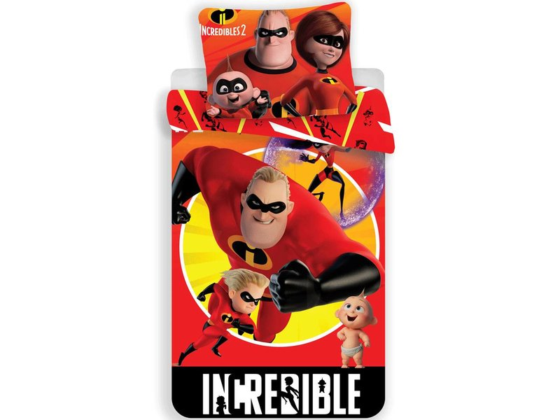 The Incredibles II - Duvet cover - Single - 140 x 200 cm - Red