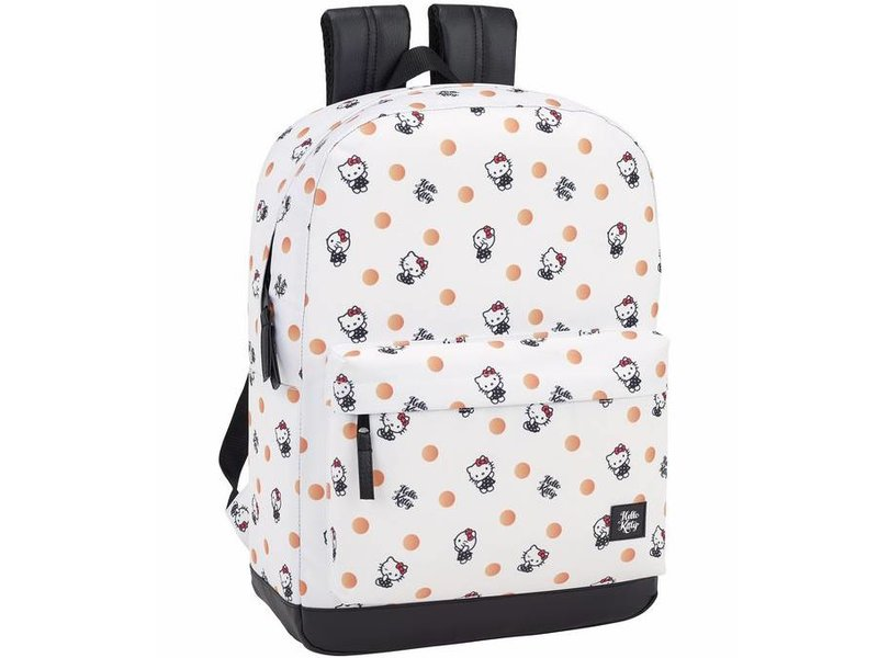 Hello Kitty Backpack Polka Dots 43cm for laptop 15.6