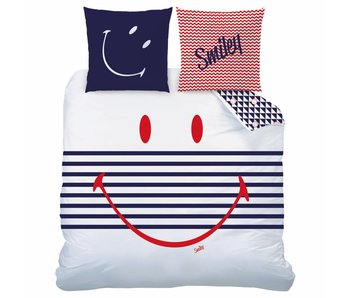 Smiley World Bettbezug Marine 240x220 cm