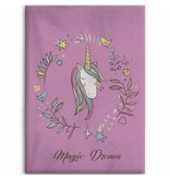 Unicorn Magic Dream - Fleece plaid - 130 x 160 cm - Pink