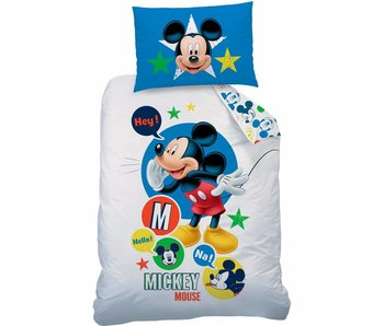 Disney Mickey Mouse Disney Mickey Mouse dekbedovertrek Expressions 140x200cm + 60x80cm