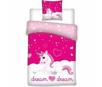 Unicorn Dekbedovertrek Dream 140x200 cm - Polyester