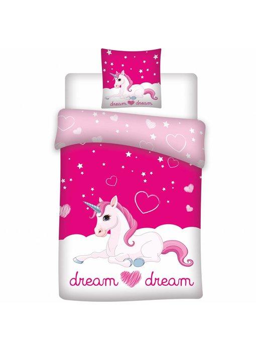 Unicorn Dekbedovertrek Dream 140x200 cm