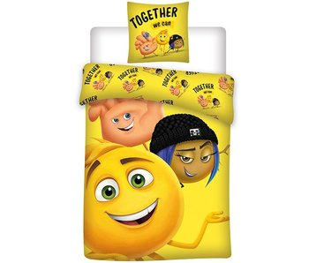 Emoji Dekbedovertrek Together 140x200 cm