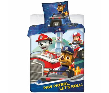 PAW Patrol Bettbezug Let's Roll Flanell