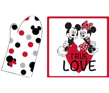 Disney Minnie Mouse Disney Minnie Mouse Set oven mitt + pot holder True Love - 20x31cm + 20x20cm