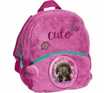 Rachael Hale Toddler Backpack Chien mignon en peluche 29x24x9cm