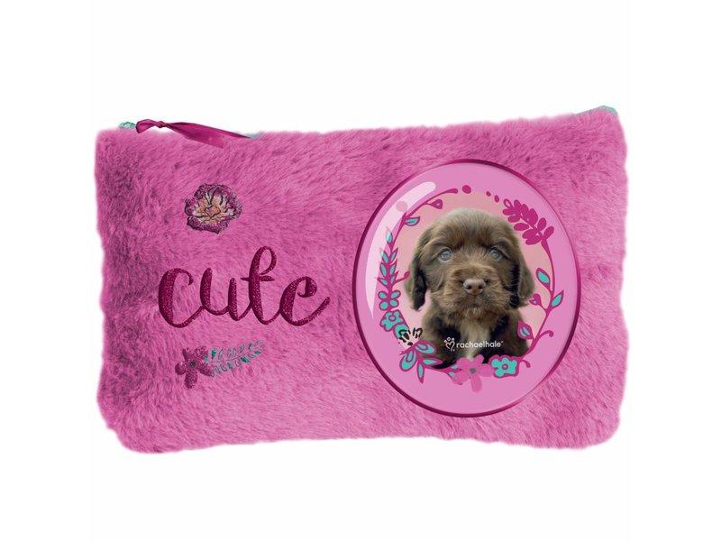 Rachael Hale Cute puppy - Plush pouch - 12.7 x 20 cm - Pink