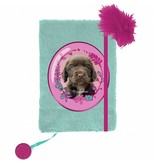 Rachael Hale Cute Puppy - Plush diary A5 - without lock - including pen