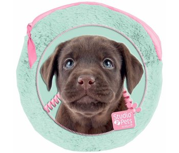 Studio Pets Plush round puppy case including 2 notebooks - 13x13cm