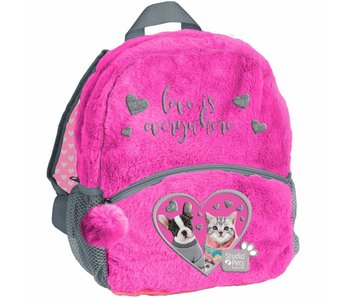 Studio Pets Toddler- Toddler backpack love is everywhere - plush - 29 x 24 x 9 cm