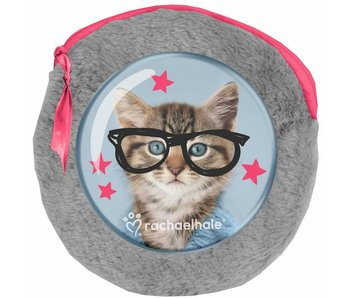 Rachael Hale Clever Kitty Pluche rond etuitje - inclusief 2 notebooks - 13x13cm