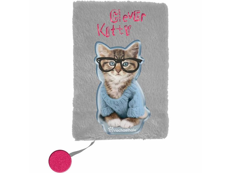 Rachael Hale Clever Kitty - Plush diary - A5 - without lock - Gray