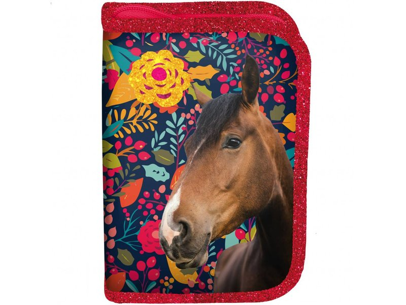 Animal Pictures Horses My best friends - Filled pouch - 19,5 x 13 x 3,5 cm - Multi