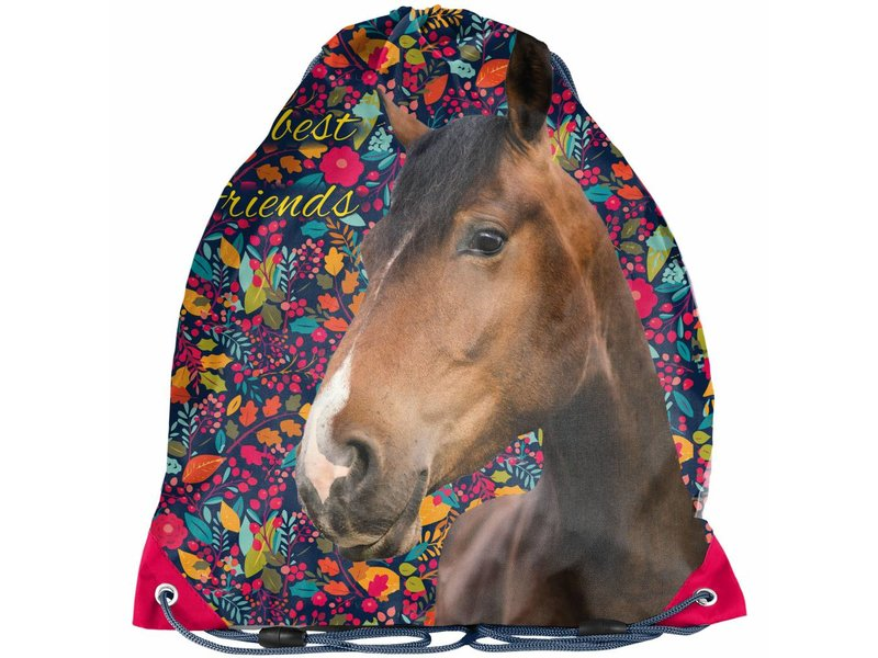 Animal Pictures Paarden my best friends - Gymbag - 38x34cm - Multi