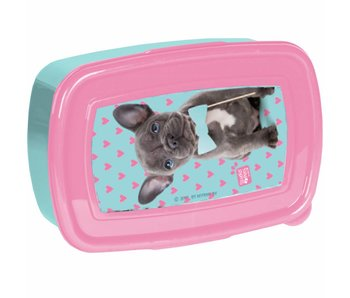 Studio Pets Lunchbox  puppy met strik 18,5cm