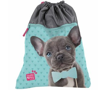 Studio Pets Gymbag / Shoe bag puppy with bow 45x34cm