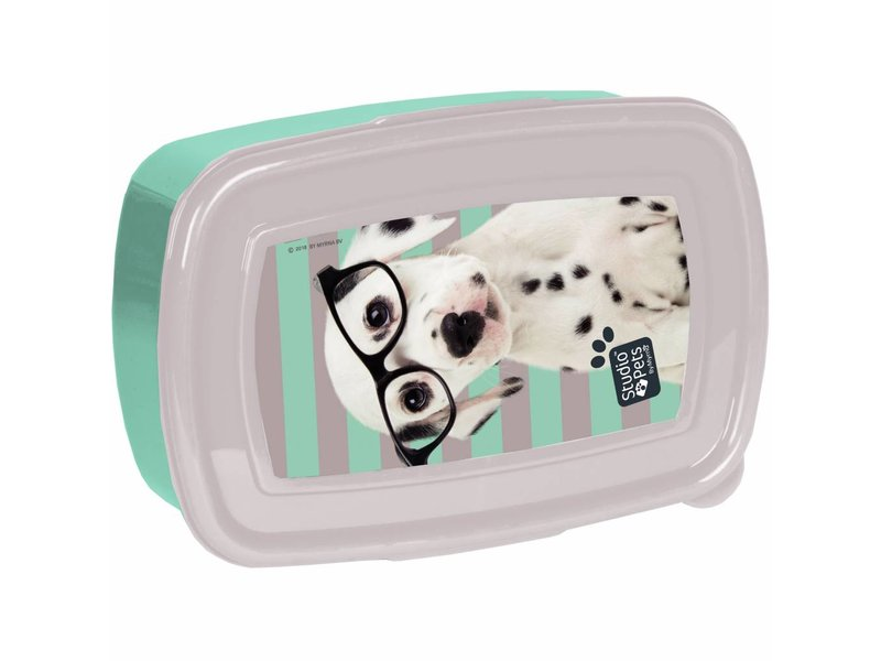 Studio Pets Spots & Glasses - lunch box - 18,5 x 13 x 6 cm - Multi