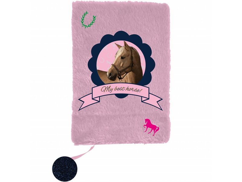 Animal Pictures My Best Horse - Plush diary - A5 - Without lock - Pink