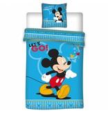 Disney Mickey Mouse Let's Go - Duvet cover - Single - 140 x 200 cm - Blue