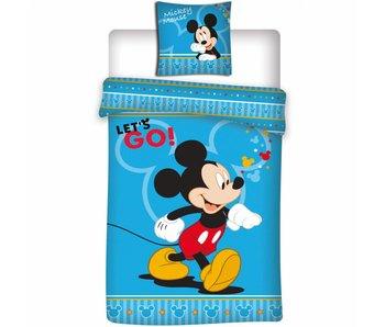 Disney Mickey Mouse Housse de couette Let's Go 140x200 cm