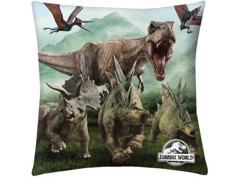 Jurassic World Life - Throw pillow - 40 x 40 cm - Multi