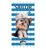 Animal Pictures Sailor Dog - Beach Towel - 70 x 140 cm - Blue