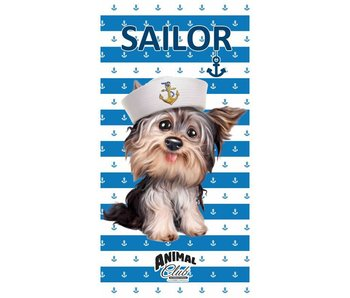 Animal Pictures Beach towel Sailor Dog 70x140 cm
