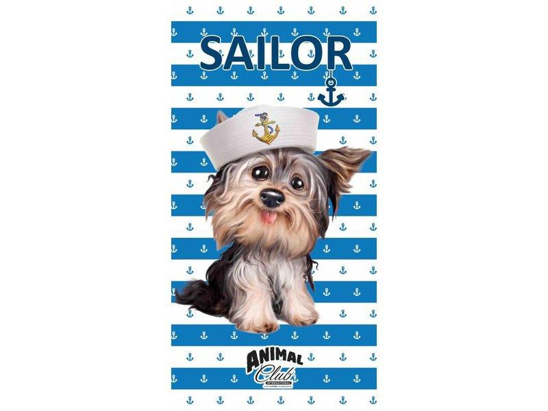 Animal Pictures Sailor Dog - Strandlaken - 70 x 140 cm - Blauw