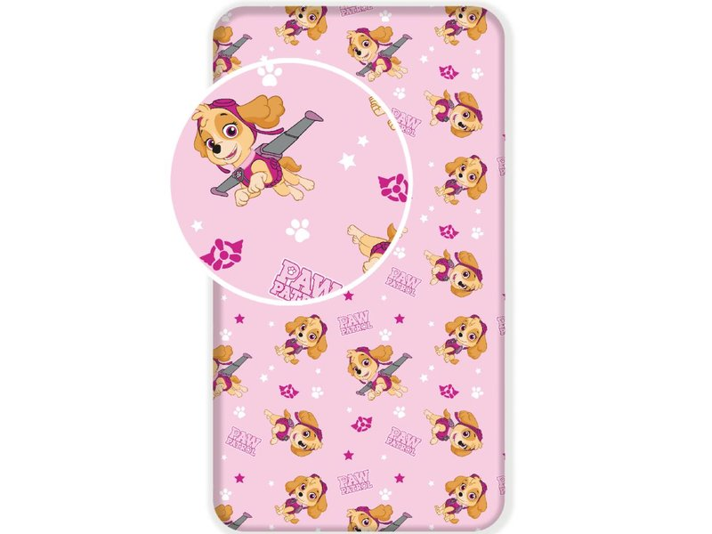 PAW Patrol Skye - Fitted sheet - Single - 90 x 200 cm - Pink