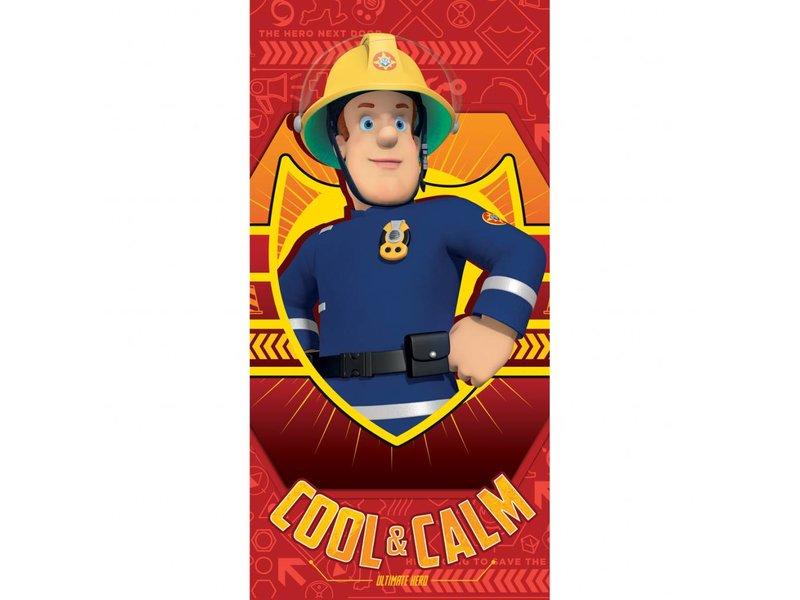 serviette de plage fireman sam cool & calm 70x140cm - simbashop.nl