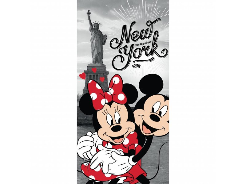 Disney Minnie Mouse New York - Beach towel - 70 x 140 cm - Multi