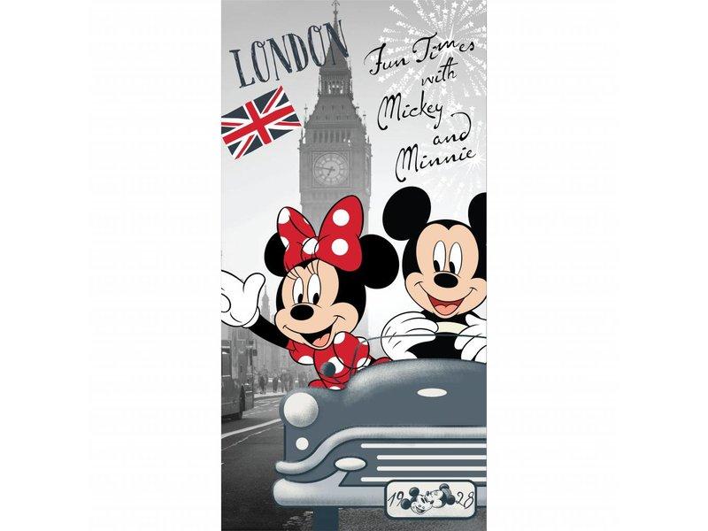 Disney Minnie Mouse London - Beach towel - 70 x 140 cm - Gray