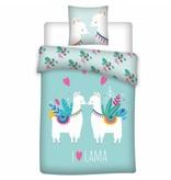 Lama Love - Bettbezug - Einzel - 140 x 200 cm - Multi