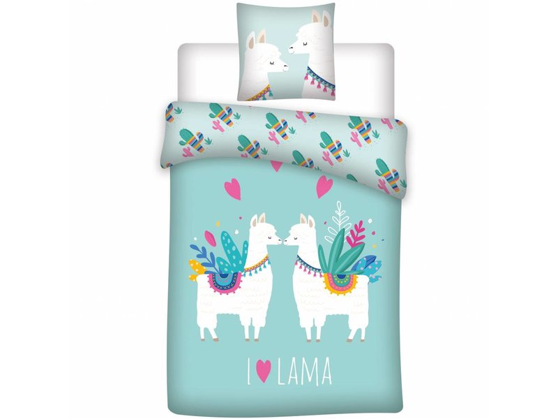 Lama Love - Duvet cover - Single - 140 x 200 cm - Multi