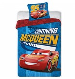 Disney Cars Lightning McQueen - Duvet cover - Single - 140 x 200 cm - Blue