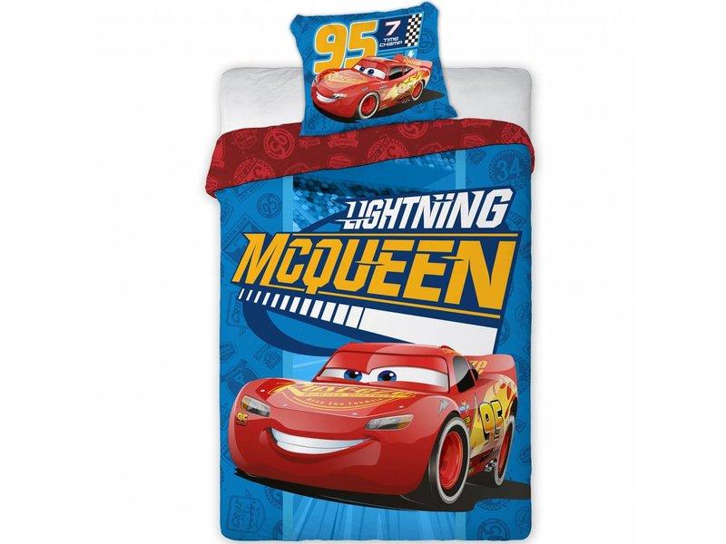 Disney Cars Lightning McQueen - Bettbezug - Einzel - 140 x 200 cm - Blau