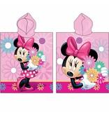 Disney Minnie Mouse Flowers - Poncho - 50 x 115 cm - Roze